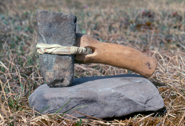primitive anvil and hammer
