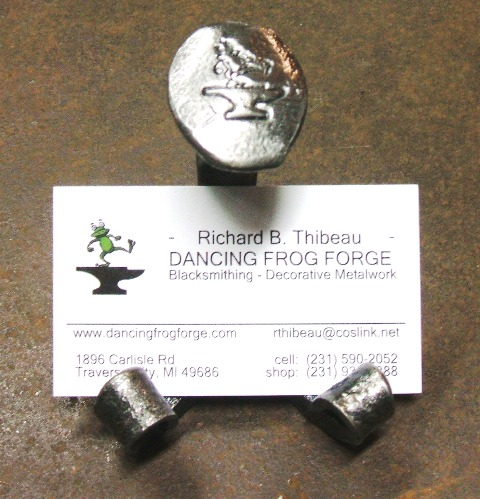 Moose forge railroad spike business card holder colourmoves